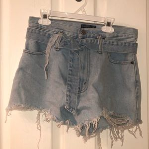 Abercrombie and Fitch ripped jean shorts
